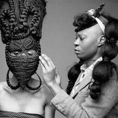 «❤ #africanart #hairstyles by Joanne Petit Frere credits photos ©Delphine Diaw Diallo.»