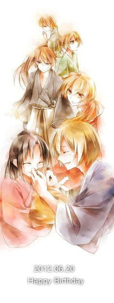 This is a pretty sweet drawing of Kenshin's life.