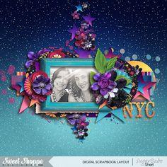 Digital scrapbook page by SeattleSheri using Hot Summer Nights by Kristin Cronin Barrow