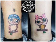 Florida Tattoos,Deep Tattoo,Little Owl,Couple Tattoos,Norman,Matching Tattoos,Couple Tat