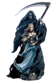 11.75 Inch Fantasy Figures Grim Reaper with Witch Collectible Display US