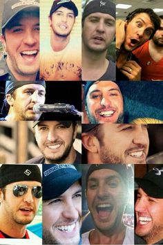 the many hot and cute and adorable faces that luke bryan makes... :))