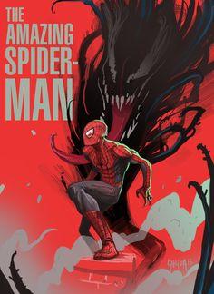 Spiderman by Dan Mora, via Behance Amazing Spiderman, Spiderman Art, Marvel Comic Books, Marvel Characters, Comic Books Art, Spider Verse, Marvel Vs, Marvel Heroes, Dan Mora