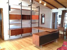George Nelson CSS Wall Unit with Desk Credenza