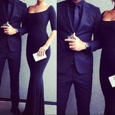 Nothing like a well dressed classy couple. Love their outfits. Nice outfit for fancy dinner. Black Evening Dresses, Sexy Dresses, Classy Couple, Sweet Couple, Youre My Person, Fashion Couple, Couple Outfits, Classy Dress, Matching Outfits