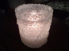 Winter Wedding Candle Holder :  wedding diy silver white winter wedding 2012 04 07 20.20.54