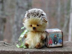 Hedgehog Teddy Flip. Teddy Bear friends stuffed by FeltSilkArtGift