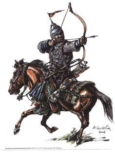 Kazakh medium cavalryman, end of the 15th-16th century