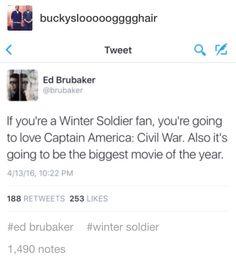 Brubaker has spoken. I trust the Russos. I trust him. I'm not emotionally ready for it