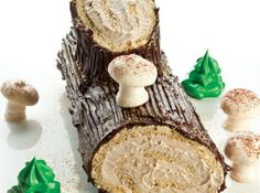 Bûche de Noël (Yule Log Cake with Coffee Buttercream and Ganache)
