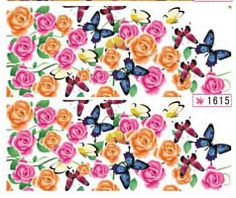 1 Sheet Wise Flowers Colorful Decals Manicure Tips Multi Mix Nail Art Stickers Color >>> Find out more about the great product at the image link. Nailart, Manicure Tips, New Nail Art, Nail Art Stickers, Nail Wraps, Bunt, Decals, Nail Polish, Flowers