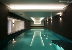 Guncast Swimming Pools accepted the interesting swimming pool design challenge of both indoor and outdoor pools that mirrored the sharp, clean style of the property in Hertfordshire, UK.