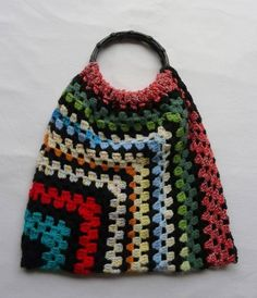 Crocheted Rug Bag-no tutorial...could probably figure this one out