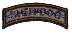 Tactical Gear Junkie - Sheepdog Thin Blue Line Tab Patch, $3.99 (http://www.tacticalgearjunkie.com/sheepdog-thin-blue-line-tab-patch/)