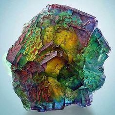 Rainbow Fluorite #inspiration #notmine #gemstones #nature