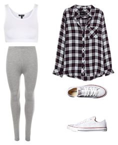 """""""Untitled #72"""" by layyy-layyy on Polyvore featuring WearAll, Topshop, Converse and Rails"""