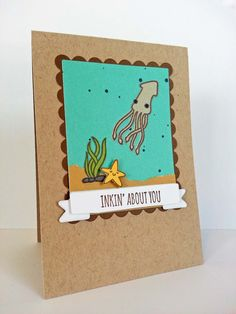 Inking About You #amusestudio Sealed with a Fish - http://www.kitchentablestamper.com