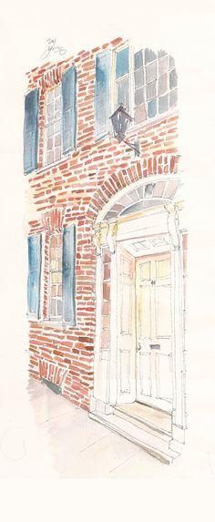 Historic Charleston Foundation Door Detail by fionamiller on Etsy, $250.00