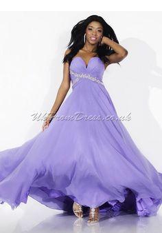 Long Rhinestone A-line Beautiful Chiffon Sweetheart Prom Dress $224.99 Prom Dresses