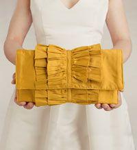 gorgeous yellow clutch $75