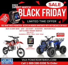 Black Friday Dirt Bike Sale Save big on dirt bikes and ATVs www.powerdirtbikes.com