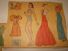 Dixie Dugan paper doll 1930's / Ebay