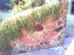 jardiniere with sunflower stone