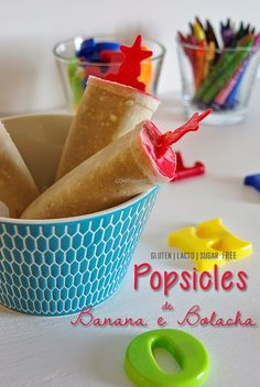 Popsicles de Banana e Bolacha - Gluten | Lacto | Sugar FREE