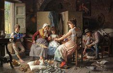 a happy family-Giovanni Battista Torriglia