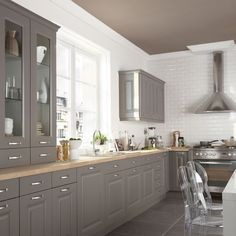 Cuisine Taupe Cuisine Taupe Comment Cuisine Intacresnte Cuisine with regard to Cuisine Taupe Et Bois Grey Kitchens, Home Kitchens, Kitchen Interior, Kitchen Decor, Kitchen Flooring, Kitchen Cabinets, Armoire Makeover, Mid Century Modern Kitchen, Cuisines Design