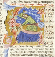 Judith: slaying Holofernes  within initial A | Bible | Italy, Padua | ca. 1287-1300 | The Morgan Library & Museum