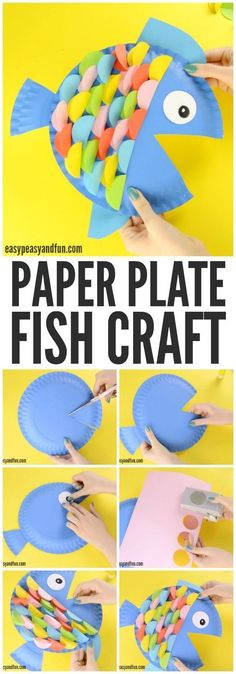 Colorful and fun paper plate fish craft! A great activity for an ocean unit! #underthesea #paperplatecraft #kidscraft