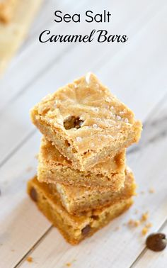 Sea Salt Caramel Bars Recipe
