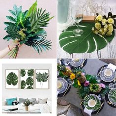 Coolmade Faux Palm Leaves with Stems Artificial Tropical Plant Imitation Safari Leaves Hawaiian Luau Party Suppliers Decorations Image 4 of 7 Hawaiian Party Decorations, Hawaiian Luau Party, Hawaiian Theme, Tropical Party, Tropical Decor, Tropical Interior, Tropical Colors, Jungle Theme Parties, Safari Party