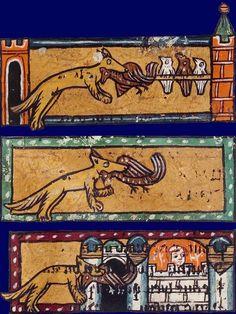 Renart et les poulets Le roman de Renart Début du XIVe siècle