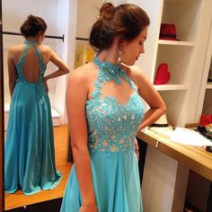 Blue Prom Dress,Lace Evening Dress,2017 Prom Gown,lace Party Dress,Long Prom Dress,Blue evening gowns