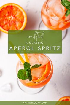 How to make the classic aperitif, an Aperol spritz! This is the best summer cocktail for a refreshing happy hour drink.