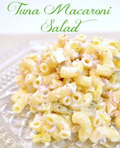Tuna Macaroni Salad - a perfect summer salad or hearty enough for lunch! At Little Miss Celebration @Cindy Eikenberg (littlemisscelebration)
