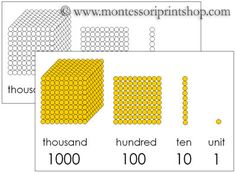 Printable Montessori Golden Beads Control Charts (color & blank); includes space to write in each number