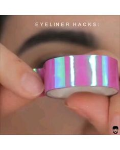 Eyeliner Make-up, Eyeliner Hacks, How To Do Eyeliner, Makeup Tutorial Eyeliner, Eyeliner Styles, Best Eyeliner, Simple Eyeliner Tutorial, Makeup Hacks, Makeup Tools
