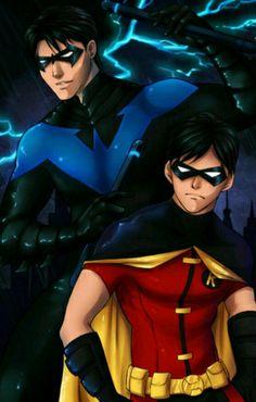 Ancora non ho capito se sia un'evoluzione da Robin a Nightwing nella YG o meno. So solo che è adorabile!!