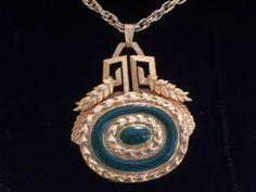 Rare Vintage Grecian Style Perfume Locket Pendant by LoveLockets, $48.00
