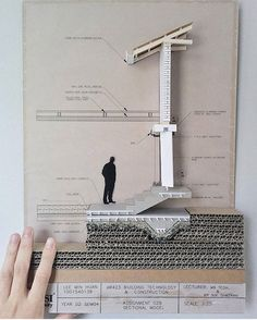 Detailed construction section By - Architecture Ideas Maquette Architecture, Detail Architecture, Architecture Board, Architecture Student, Concept Architecture, Architecture Models, Sections Architecture, Tectonic Architecture, Drawing Architecture