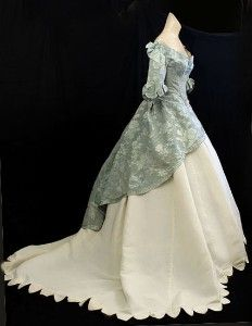 Civil War period ball gown, c.1860    Gown with overdress example