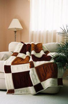 Padrão de alegria para manta de crochê