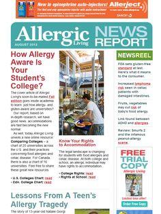 Allergic Living`s August News Report via @Alex Felsinger Living