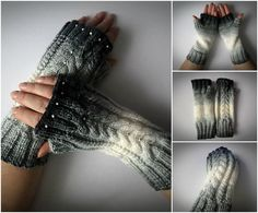 handmade by madewithlovenatali on Etsy Fingerless Gloves Knitted, Knit Mittens, Arm Warmers, Knitting, Trending Outfits, Unique Jewelry, Winter, Handmade Gifts, Vintage