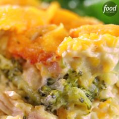 Chicken Broccoli Casserole will make you lose your breath. Make with cauliflower rice Fix Trisha Yearwood's cheesy Chicken Broccoli Casserole recipe, from Trisha's Southern Kitchen on Food Network, as a comforting make-ahead meal. Crockpot Recipes, Chicken Recipes, Cooking Recipes, Soup Recipes, Recipes With Rotisserie Chicken, Kraft Recipes, Turkey Recipes, Cooking Tips, Recipies