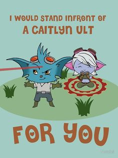Valentine Rumble and Tristana card. This is so cute. Especially since I play Tristana a lot.