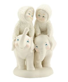 Another great find on #zulily! 'Tail of Two Trunks' Figurine by Snowbabies #zulilyfinds